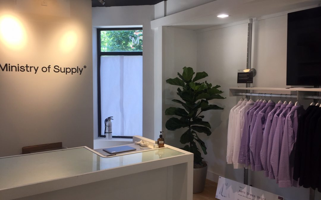 Plantscape Designs Inc Partners with Ministry of Supply On Newbury Street, Boston, MA ; Interior  Office Plant Designs